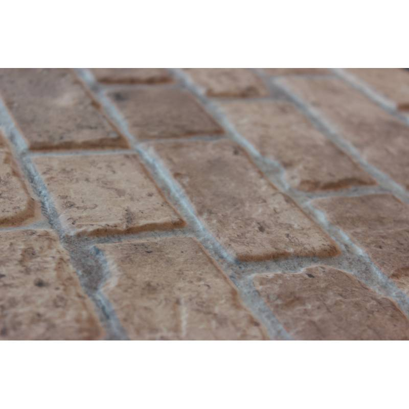 carrelage aspect brique 33x47cm brick bege. Black Bedroom Furniture Sets. Home Design Ideas