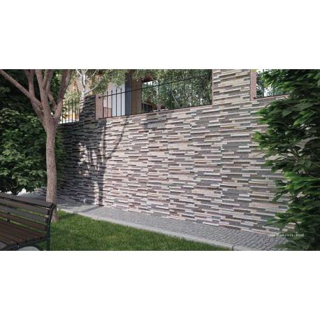 Carrelage aspect briquette 33x47cm linea multicolor for Linea carrelage