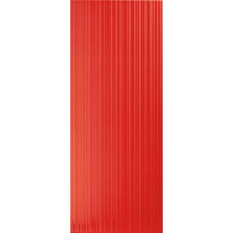 Playtile Vermelho Brilho Stri 20x50