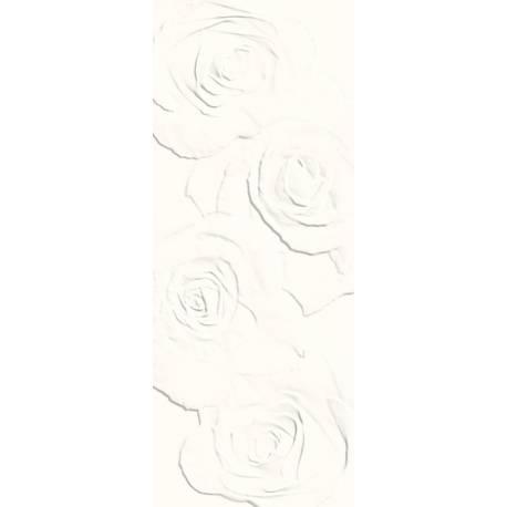 Playtile Branco Mate Flora 20x50