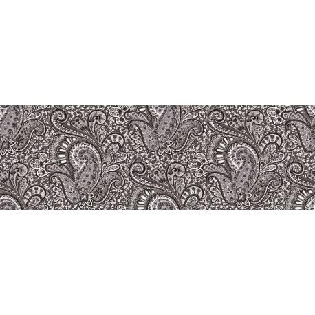 Faïence floral noir cachemir 20x60cm