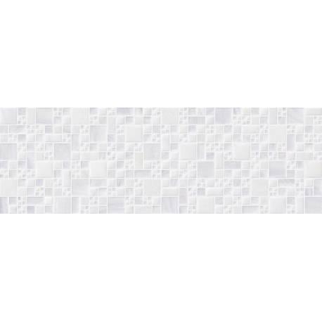 Faïence 3D blanc city 20x60cm