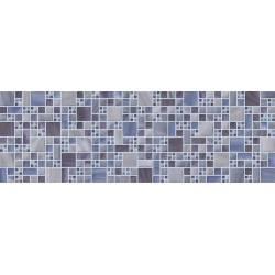 Faïence 3D bleu city 20x60cm