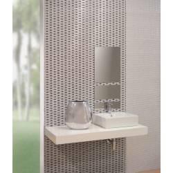 Faïence texturée grise dublin 20x60cm