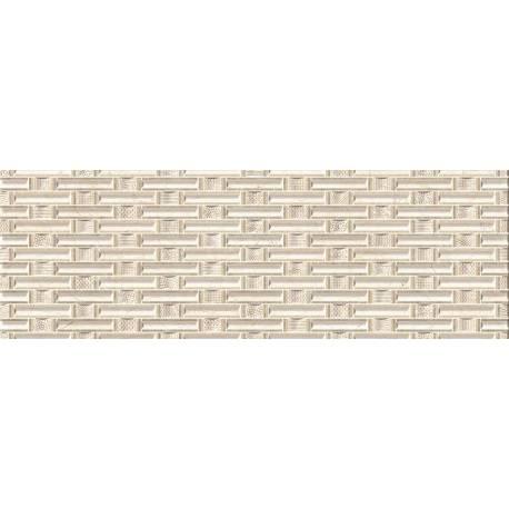 Faïence texturée beige dublin 20x60cm
