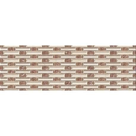 Faïence texturée marron dublin 20x60cm