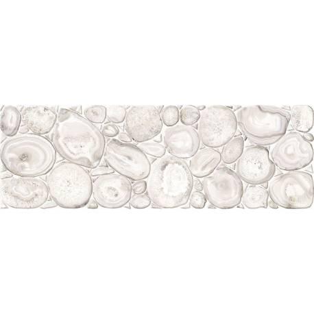 Faïence galets blancs gema 20x60cm