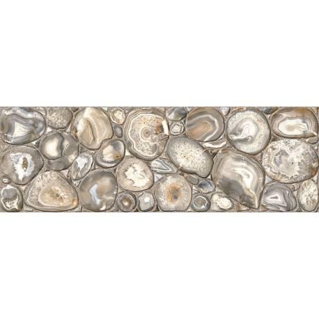 Faïence galets gris gema 20x60cm