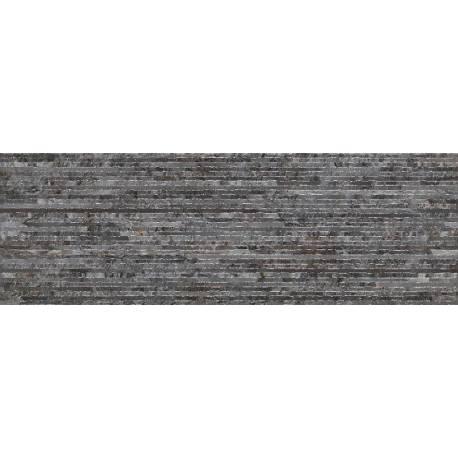 Faïence strié gris sombre nimes 20x60cm