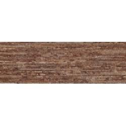 Faïence strié marron nimes 20x60cm