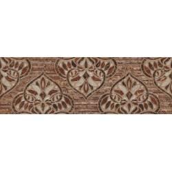 Faïence arabesques marrons nimes 20x60cm