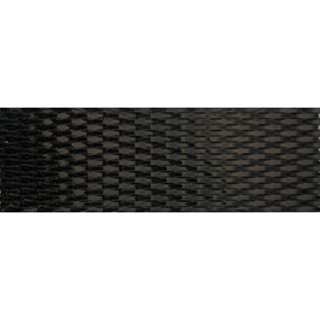 Faïence tressé noir ondas 20x60cm