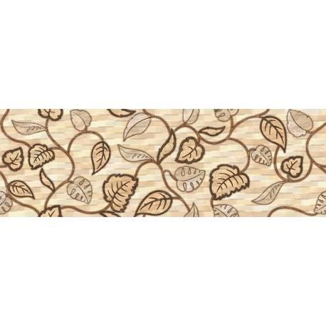 Faïence fleurs beiges ondas 20x60cm