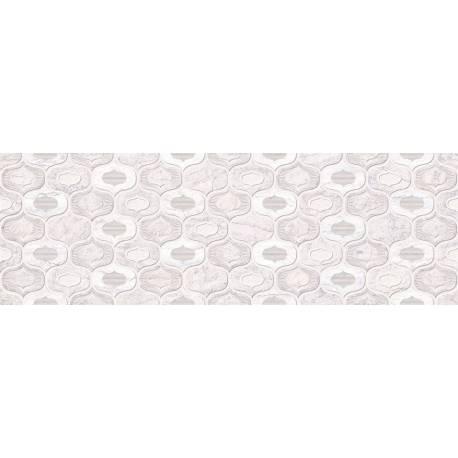 Faïence à motif blanc toledo 20x60cm
