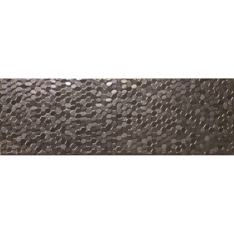 Fau00efence texturu00e9 noir turia 20x60cm