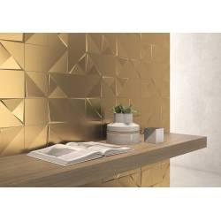 Aleatory metal gold matt aleatory 2 15x15 mat