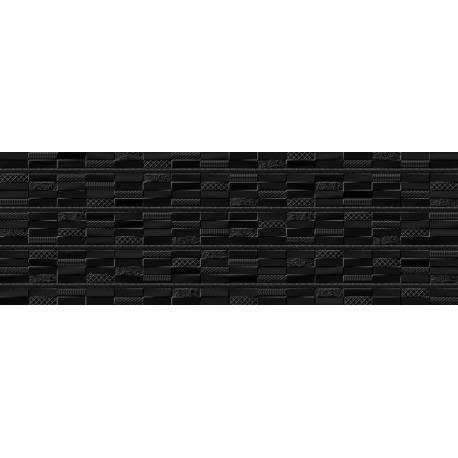 Faïence noir texturé cancun 30x90cm
