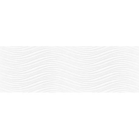 Faïence vagues blanches cuarzo 30x90cm