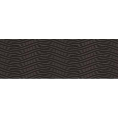 Faïence vagues noires cuarzo 30x90cm