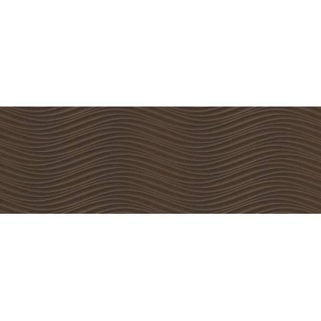 Faïence vagues marrons cuarzo 30x90cm