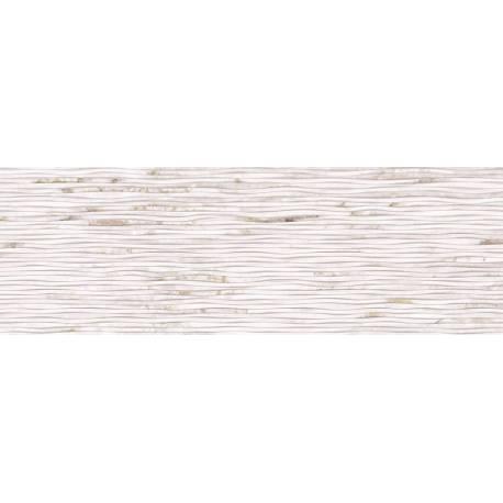 Faïence graphique blanc iris 30x90cm