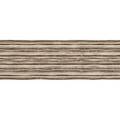 Faïence strates marron iris 30x90cm