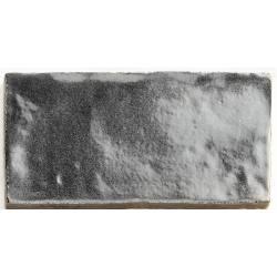 Handmade metallic silver 6,5x13 brillant