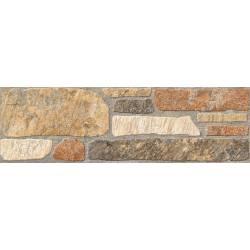 Carrelage pierres marrons jaén 15x50cm