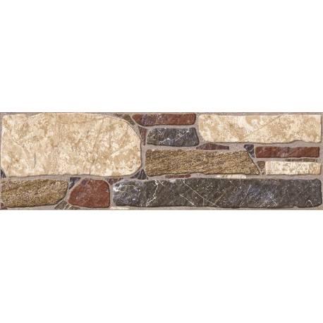 Carrelage pierres multicolor utiel 15x50cm