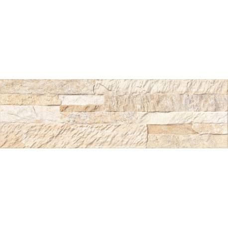 Carrelage mur de pierre clair numancia 15x50cm