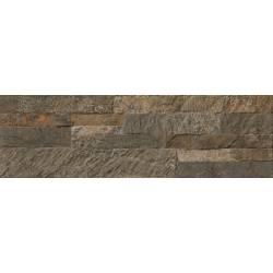 Carrelage mur de pierre sombre numancia 15x50cm