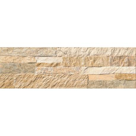 Carrelage mur de pierre beige numancia 15x50cm