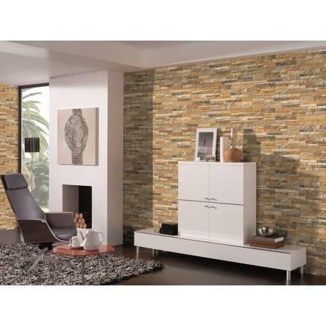 Carrelage mur de pierre ocre numancia 15x50cm