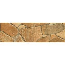 Carrelage pavé découpé marron teruel 15x50cm
