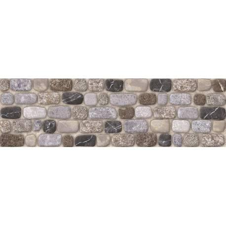 Carrelage briques arrondies grises praga 15x50cm