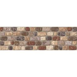 Carrelage briques arrondies marrons praga 15x50cm