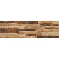 Carrelage rodas pierres marrons rodas 15x49cm