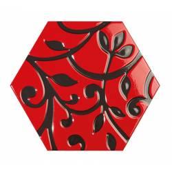 Toscana grabados rojo 25,8x29 brillant