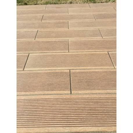 Carrelage deck extérieur beige canada 15x49cm