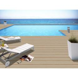 Carrelage deck nervuré clair long ext 20x120cm