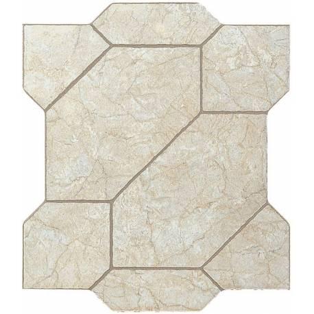 Carrelage puzzle découpé clair puzzlemi 41x41cm