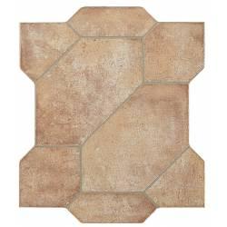 Carrelage puzzle découpé terre puzzlemi 41x41cm