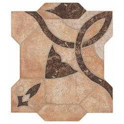 Carrelage puzzle découpé terre à motif puzzlemi 41x41cm