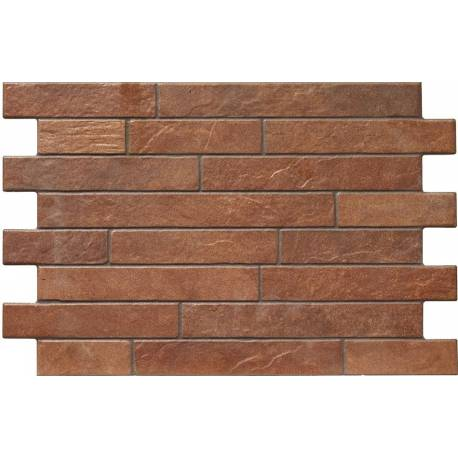 Carrelage parement briques rouges bigstone 40x57cm for Carrelage mural brique