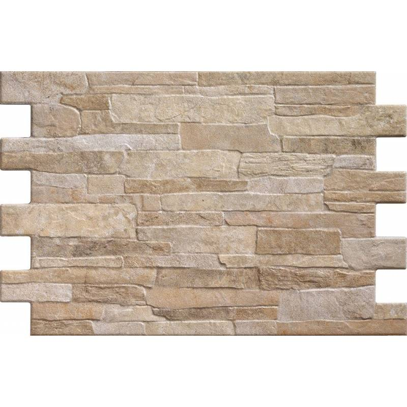 Carrelage parement brique beige irr gulier bigstone 40x57cm for Parement exterieur brique