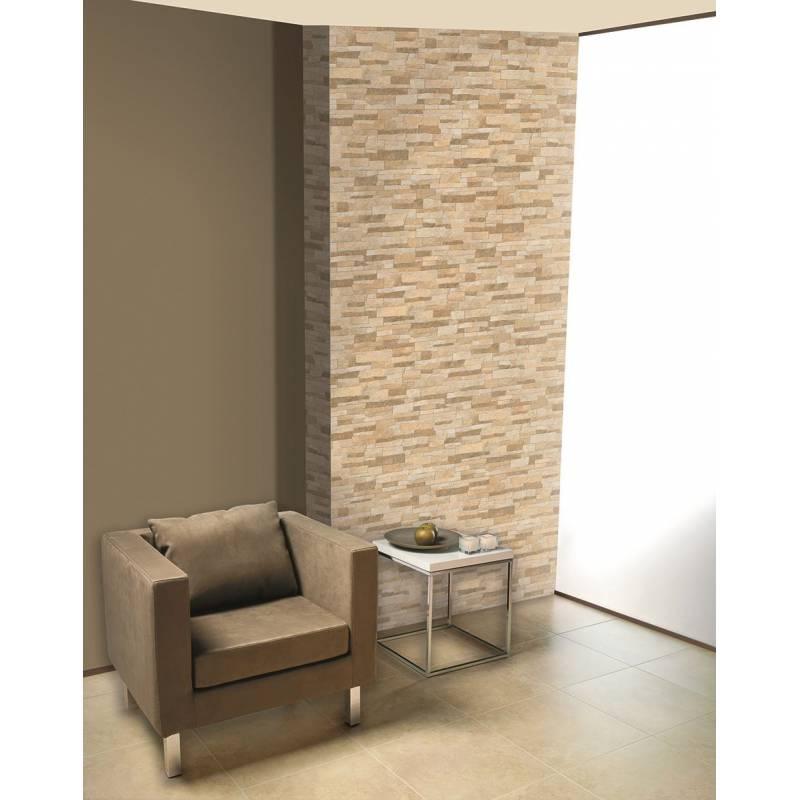 Carrelage parement brique beige irrégulier bigstone 40x57cm