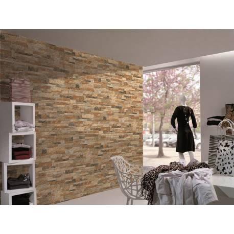 Carrelage parement briques ocres bigstone 40x57cm
