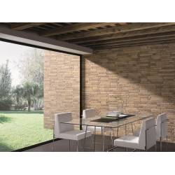 Carrelage parement aspect brique beige bigstone 40x57cm