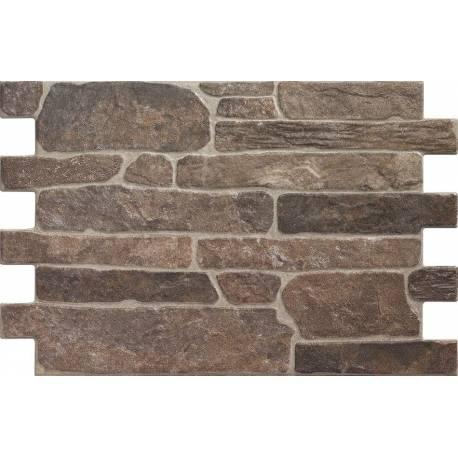 Carrelage parement aspect brique noire bigstone 40x57cm