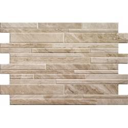 Carrelage parement briquettes blanches bigstone 40x57cm